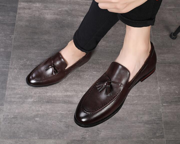 Newes arrival men Fashion comfort Bowtie tassels flats shoes
