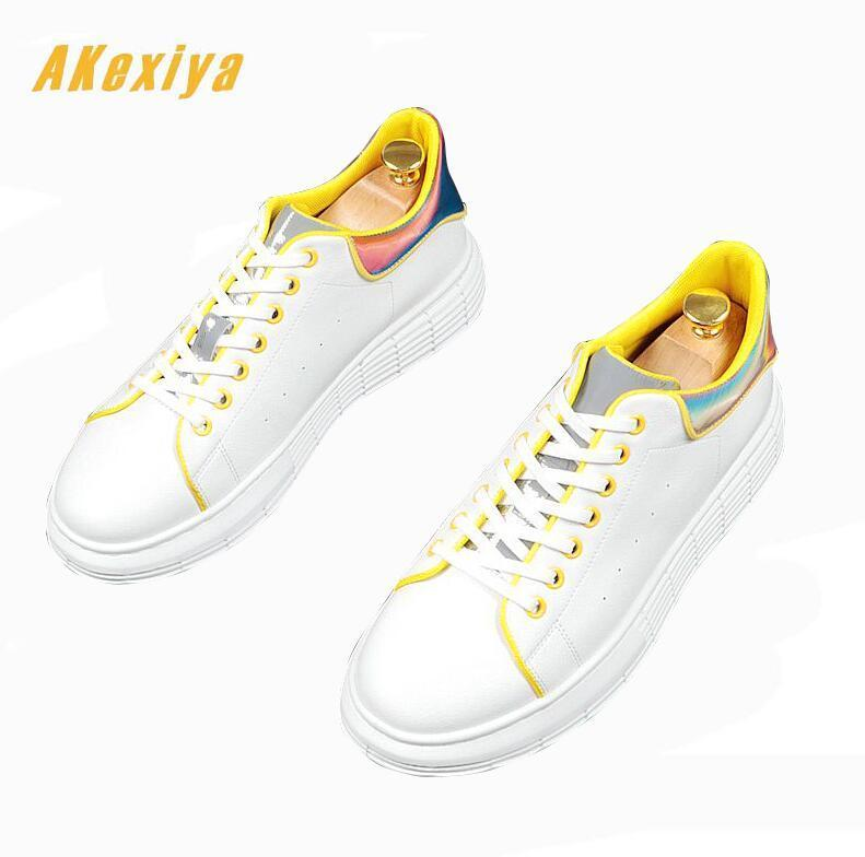 Trendy Men Fashion mixed colors lace-up loafers for man