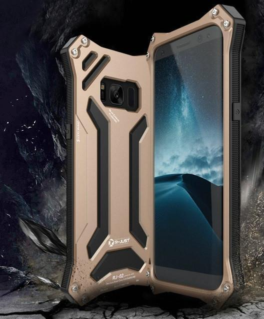 New Futuristic Style Aluminum Full Wrap Protective Metallic Case for Samsung Galaxy S10 / S9 /  S8 /  Note 8 Series
