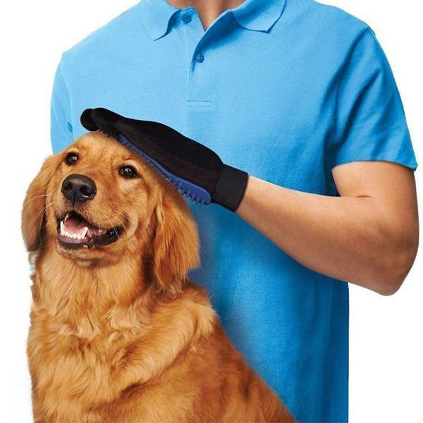 Pet Grooming Gloves - Hair Removing Mitts for Dogs and Cats