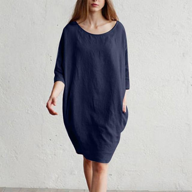 Best Seller MISSOMO Women Long Shirt Dress Cotton Linen Dress