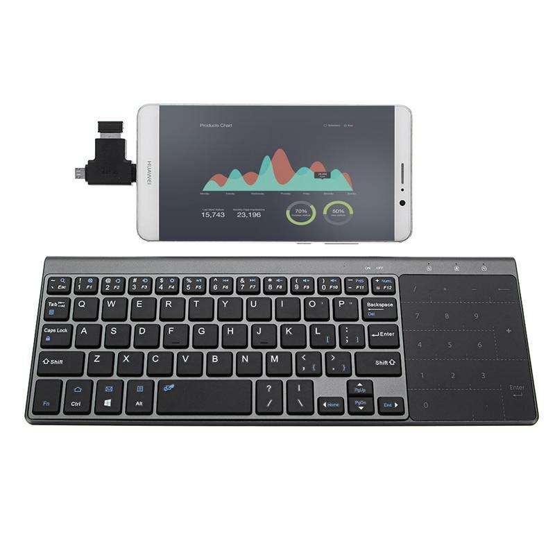 Best Seller JP136 Ultra Thin 2.4GHz Wireless Keyboard with Touch-Pad