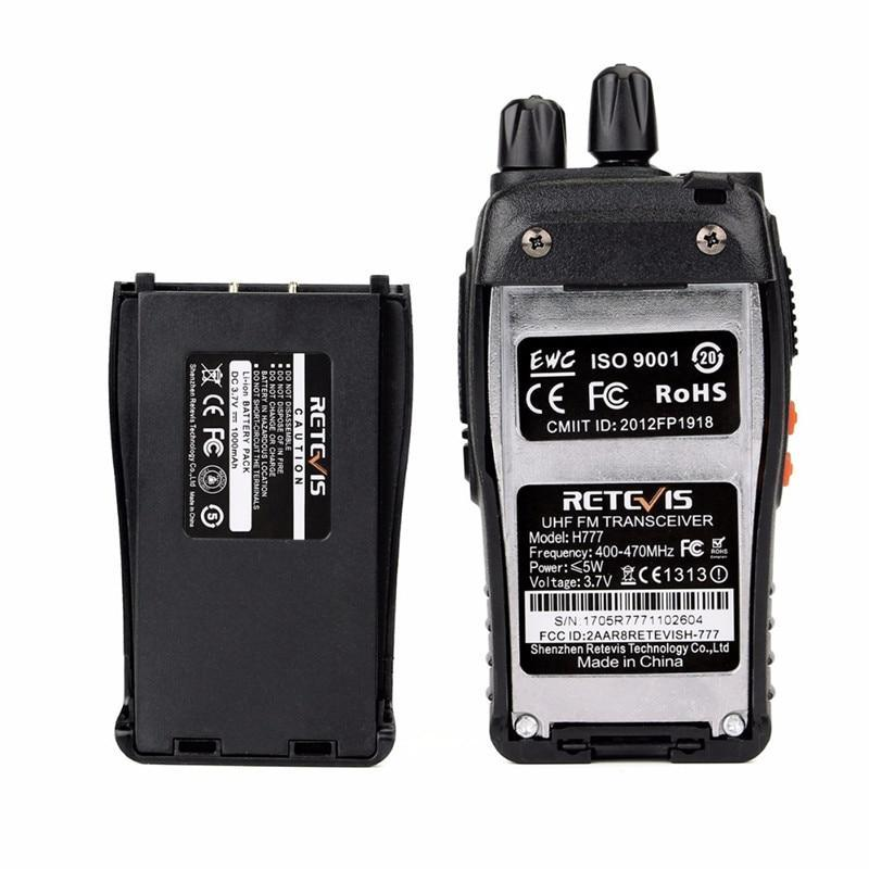 Limited Edition Retevis H777 Walkie Talkie 16CH UHF 400-470MHz