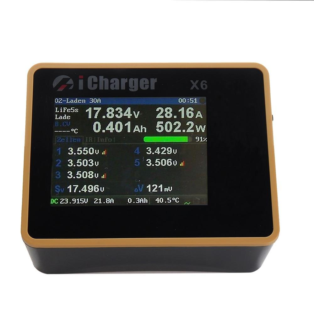 Premium Quality iCharger X6 800W 30A DC LCD Screen Smart Battery