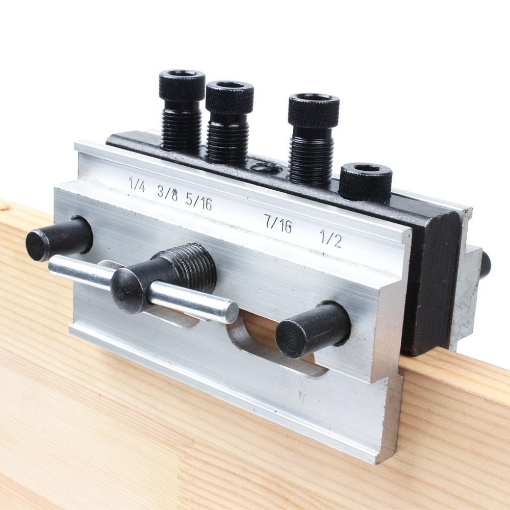 Premium Woodworking Self Centering Doweling Jig Aluminum Alloy Dowel Drill Guide