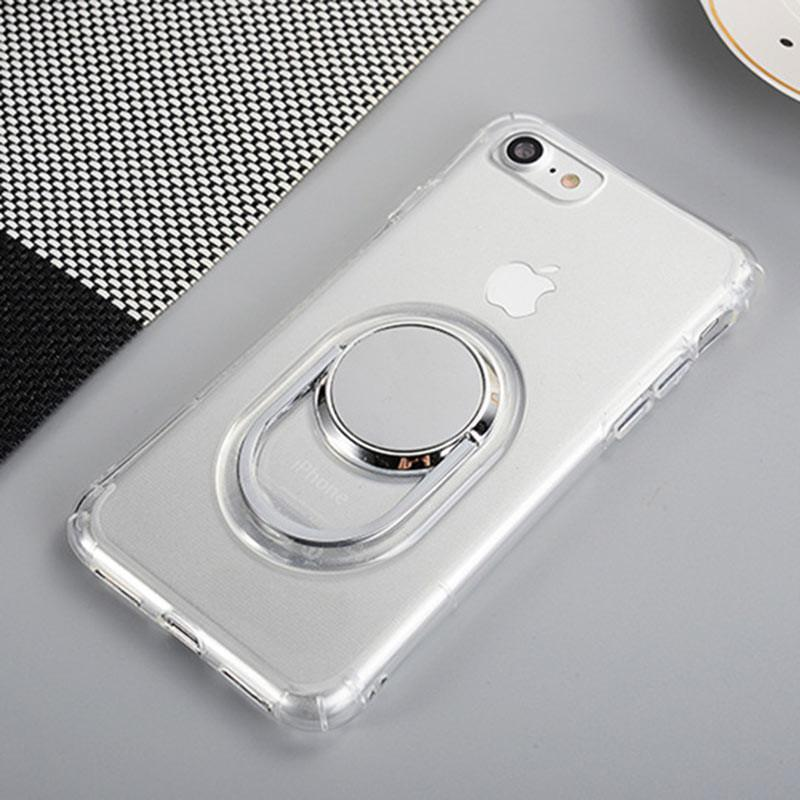 Phone Case for iPhone 7 6 6s Plus,Safety Soft TPU ring buckle phone holder stands case cover for iPhone 6 6s 7 7 plus