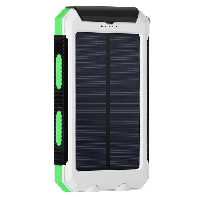 New 10000mAh Waterproof Portable Solar Charger Dual USB Battery Power Bank for Smartphones Tablets