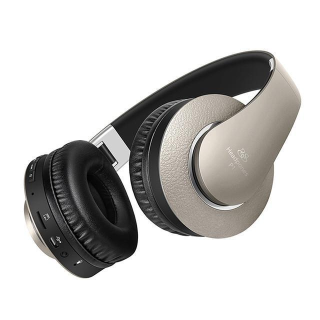 New Studio Headband Over-Ear Wireless Bluetooth Headphones  with Microphone