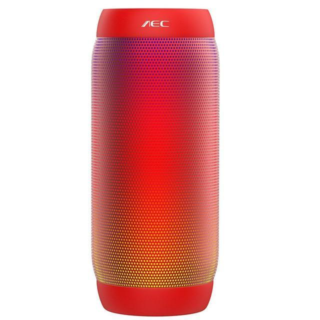 New Gradient Colored Waterproof LED light Portable Bluetooth Speaker Wireless Super Bass Mini Speaker with Flashing Lights