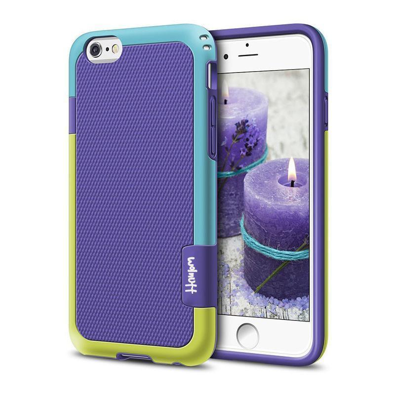 New 2  in 1 Candy-Colored Tough Silicone Slim Shockproof Hybrid Case for iPhone 6 6S Plus 7 7Plus