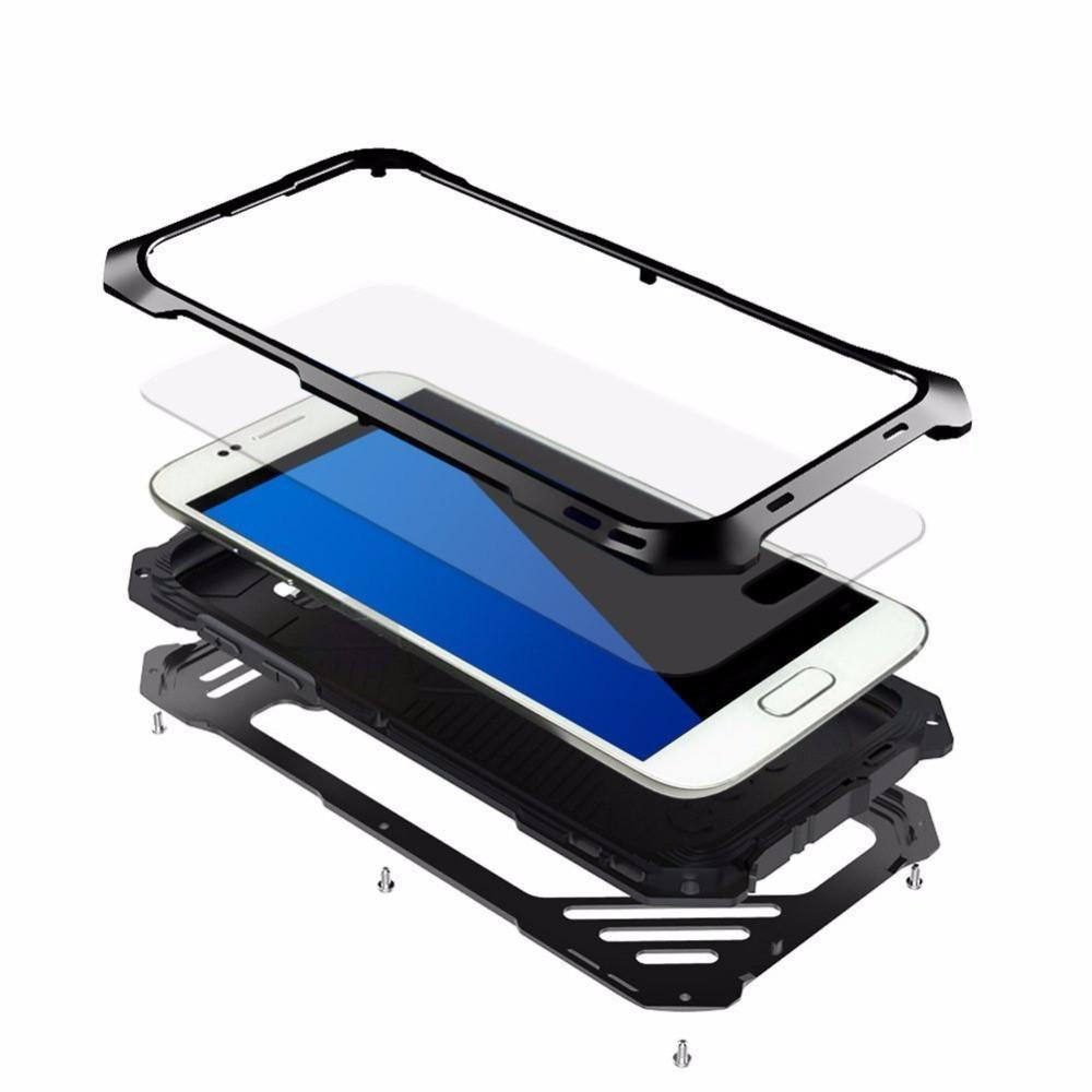 Deluxe Dustproof Metal Case Anti-Shock Cover with HD Lens For Samsung Galaxy S7 & S7 Edge