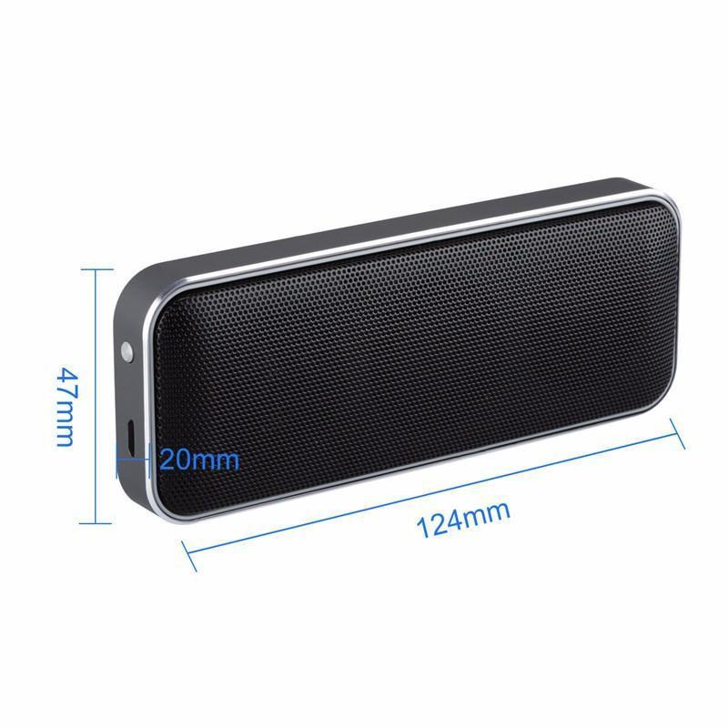 New Black Box Portable Mini Bluetooth Speaker with Super Bass, Handsfree Call & LED Light Support for Mobile Devices