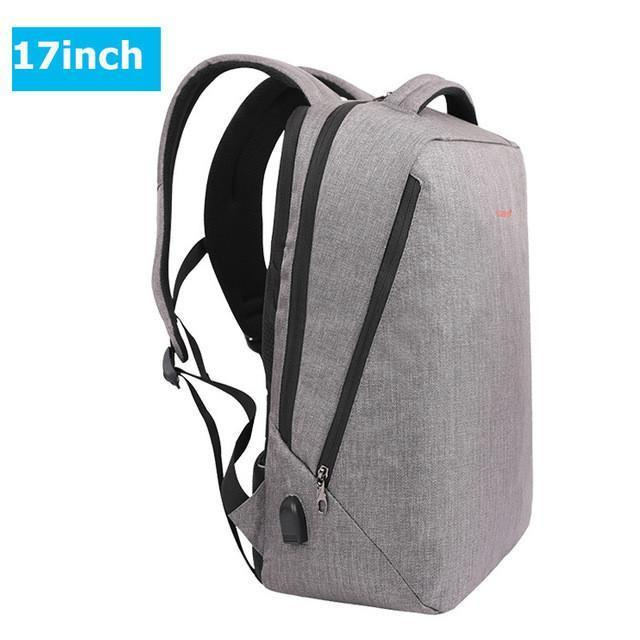 "Ultra Light Minimalist USB Charging Fashion Backpack for 14""- 17"" Laptops"