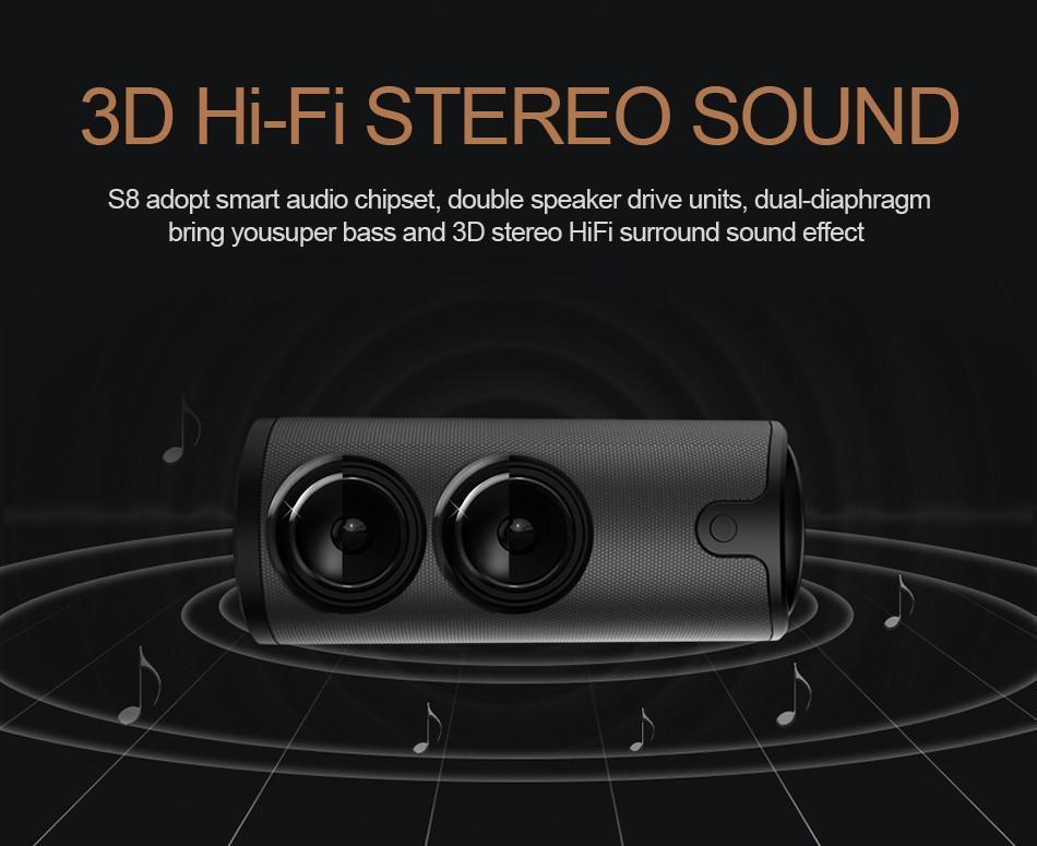 New HiFi Stereo Wireless Bluetooth Sport  Speaker with Touch Control 3D Surround Sound Subwoofer & Handsfree Support