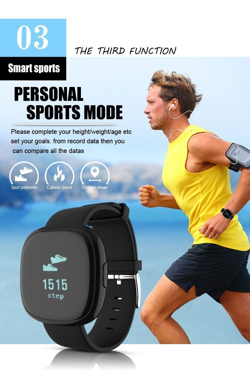 Classic Smart Band Blood Pressure Heart Rate Monitor Smart Bracelet with Pedometer Sleep Fitness Tracker for Android IOS Smartphone