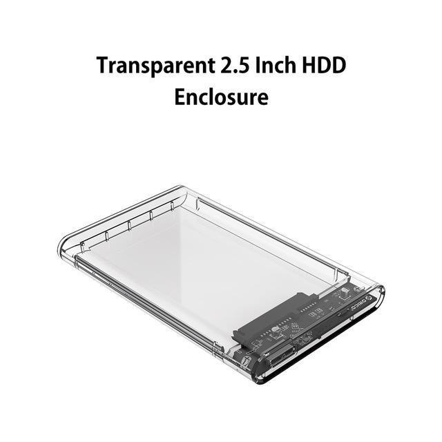 Transparent SATA 3.0 HDD Case