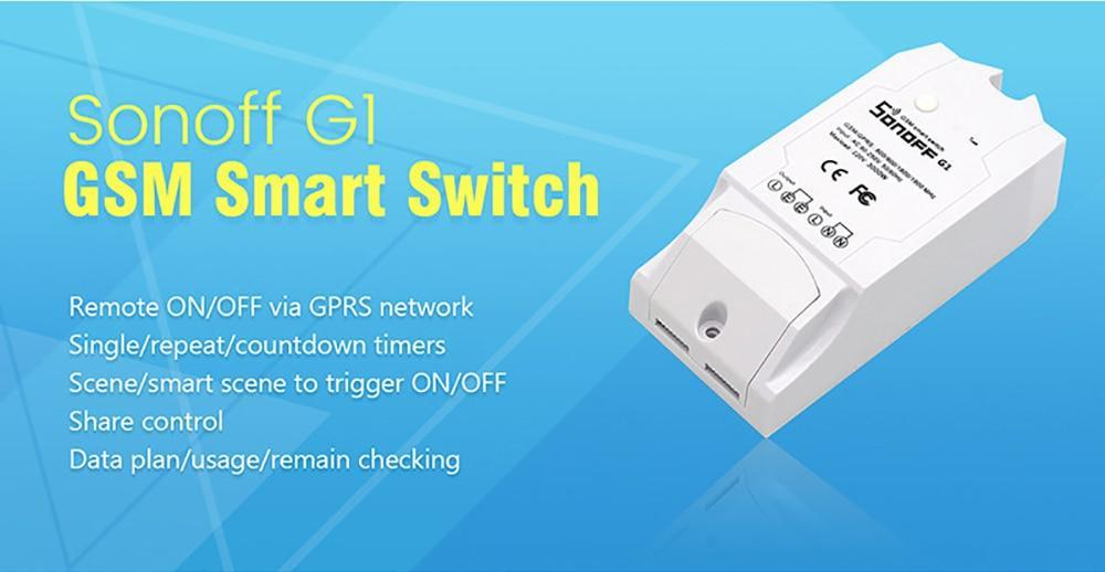 Sonoff G1 GPRS, GSM Power Smart Switch