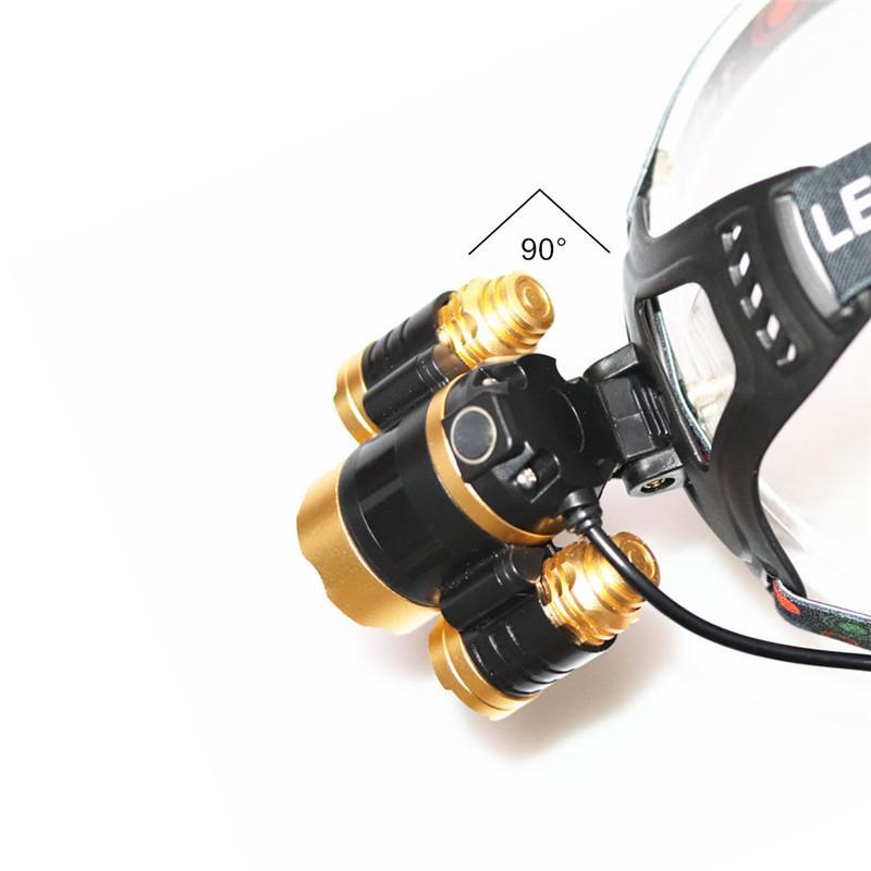 15000Lm LED Zoomable Headlamp