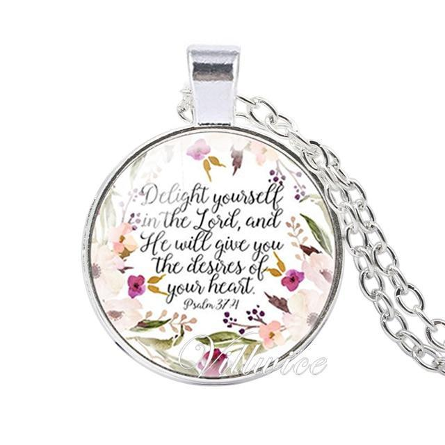 She is clothed with Strength and Dignity Necklace