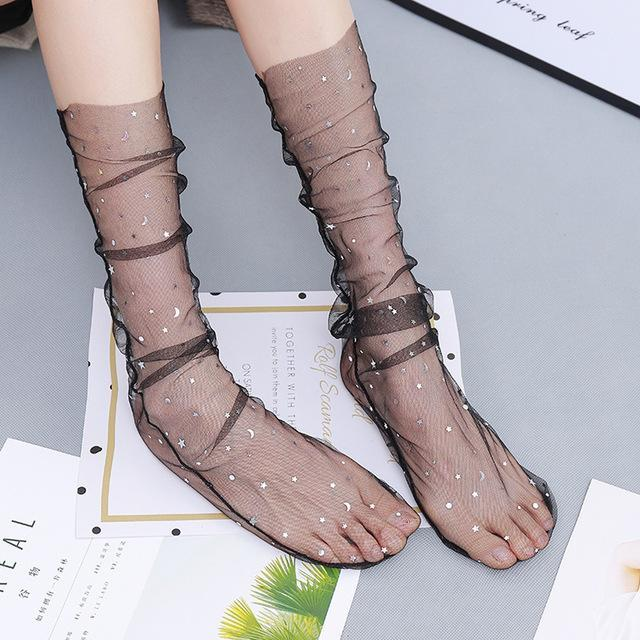 Sexy Lace Mesh Fishnet Socks