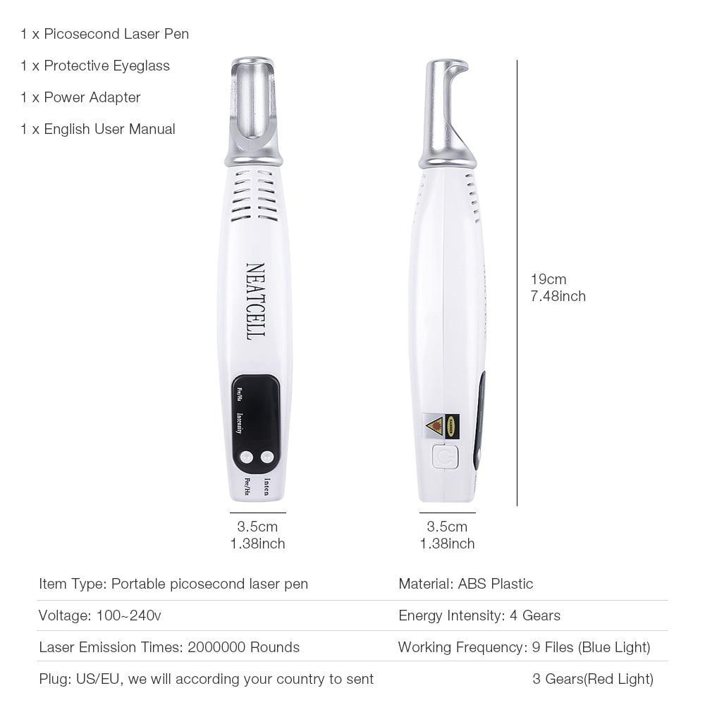 Laser Picosecond Pen (Removes Acne, Moles, Freckles, Tattoos and Darks Spots)