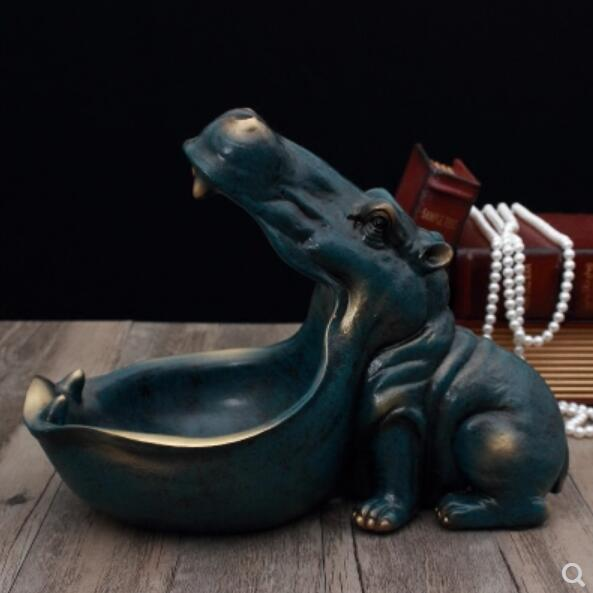 Hippo Statue Decoration Resin