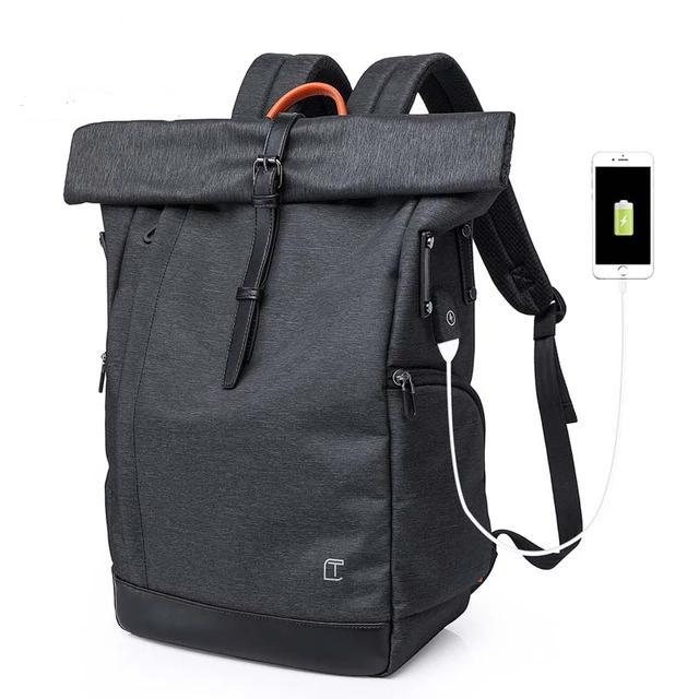 Tangcool Men Backpack USB Charge