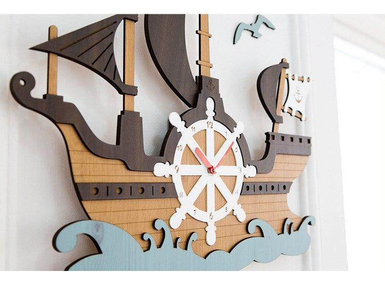 Pirate Ship Wall Clock