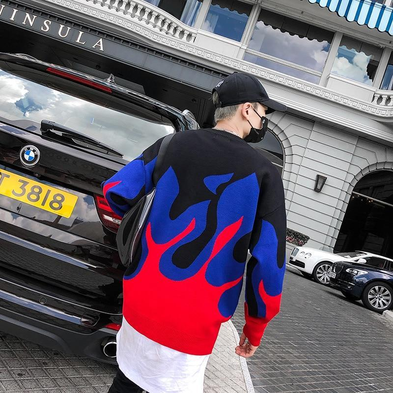 2019 Winter Flame Men Sweater