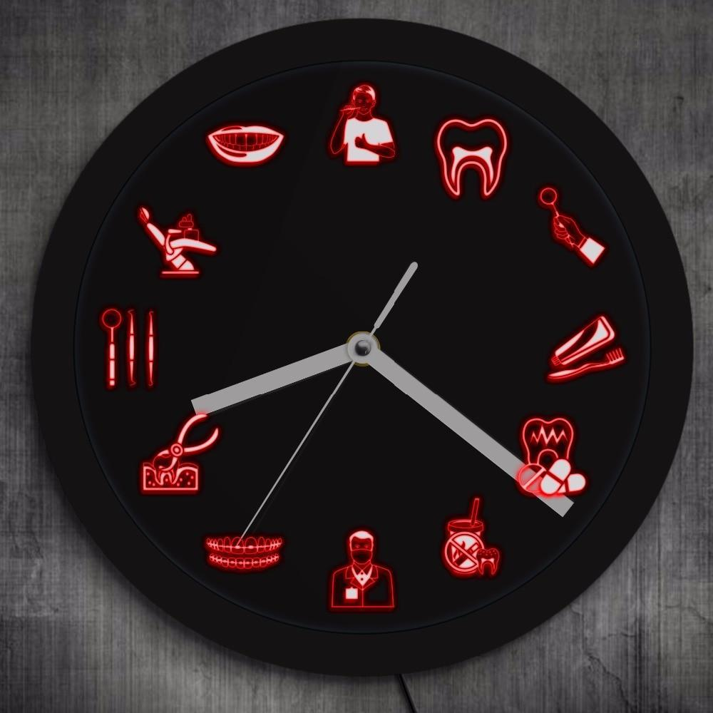 Dentist LED Wall Clock