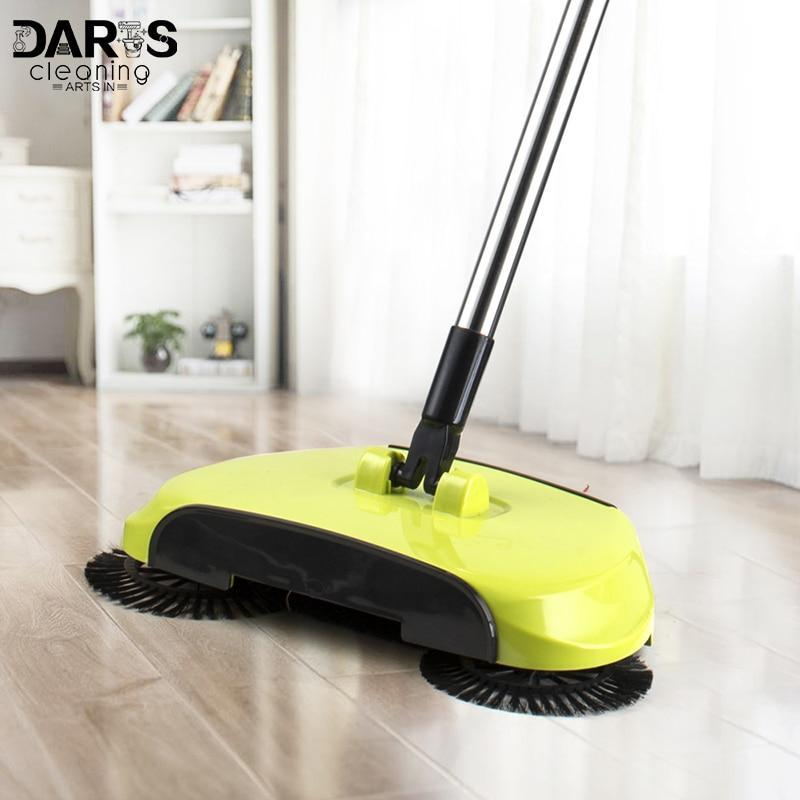 Automatic Hand Push Lazy Sweeper Broom 360 Degree Rotating