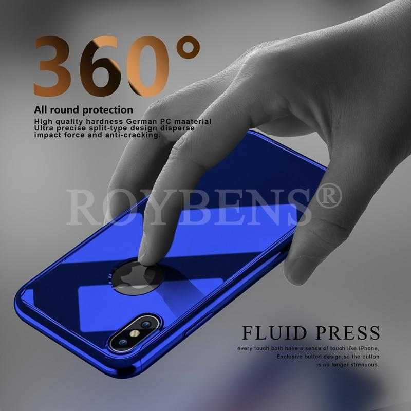 Limited Edition Mirror Thin Case Tempered Glass for iPhone