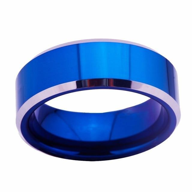 Unisex Custom Name Titanium Rings