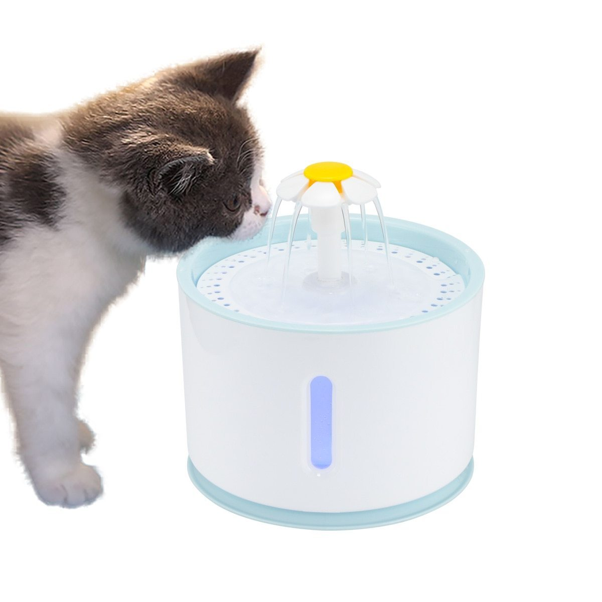 Stainless Steel Pet Water Fountain With LED Electric USB