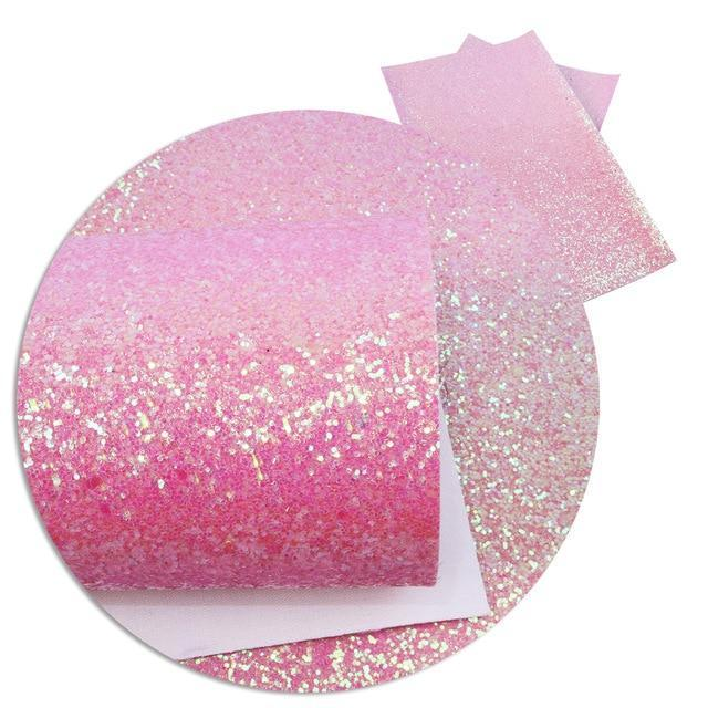 David accessories 20*34cm Shiny Chunky Glitter Synthetic Leather Fabric for Wallpaper