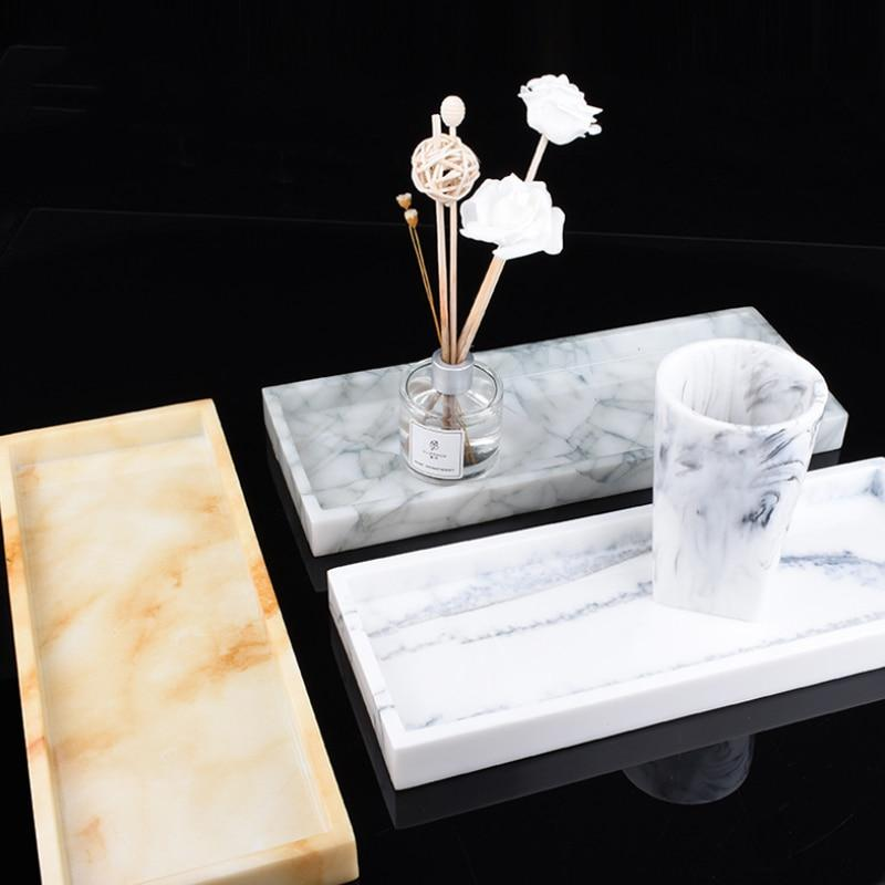 Marble Pattern Storage Tray