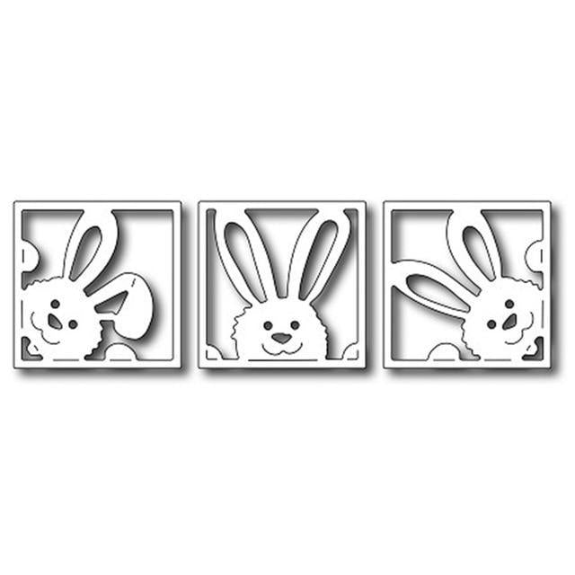 Bunny Squares Crafts Cutting Dies Stencil