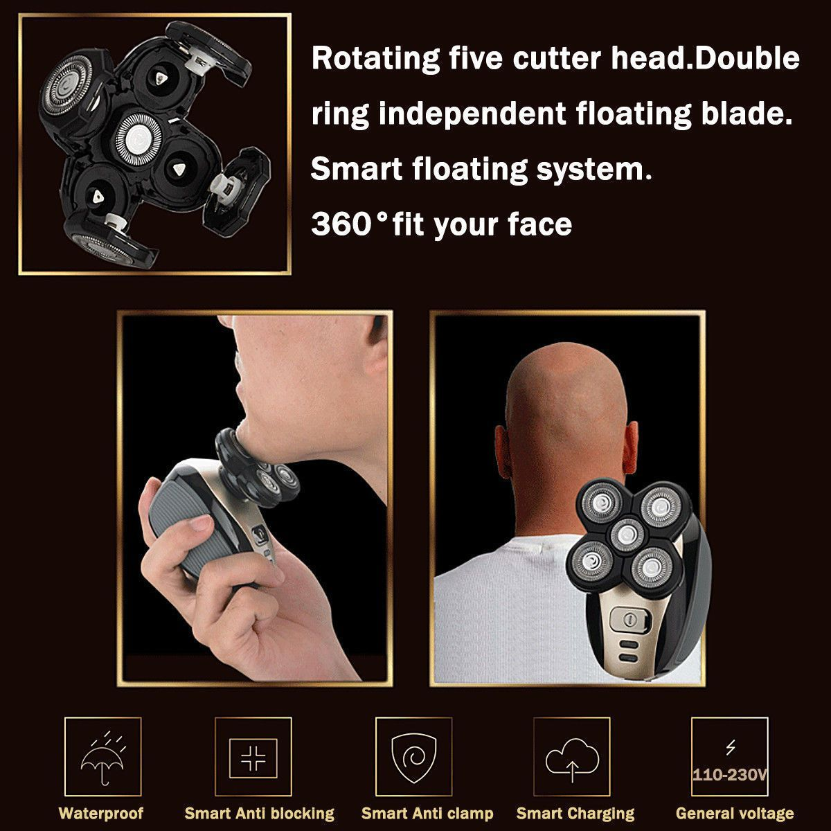 Premium Rechargeable Bald Head Shaver