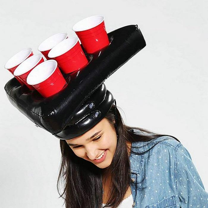 One Set Inflatable Cup Holder Hats Rings