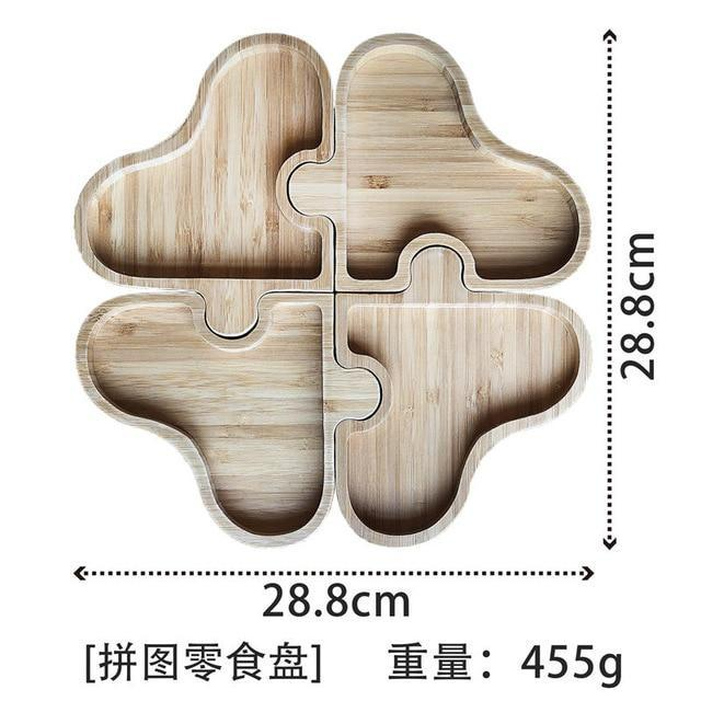 Puzzle Wooden food Storage tray