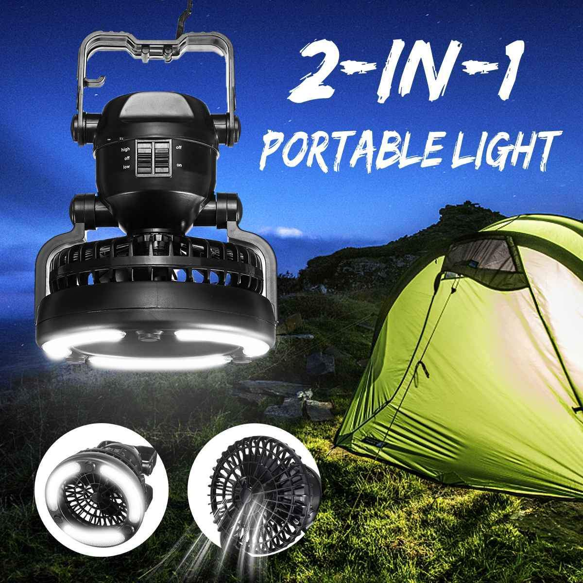 2 IN 1 Camping Fan And Led Light