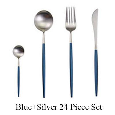 Stainless Steel Gold Flatware 24Pcs/set