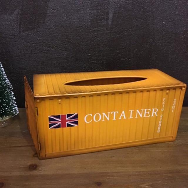 Metal Container Tissue Box Cover