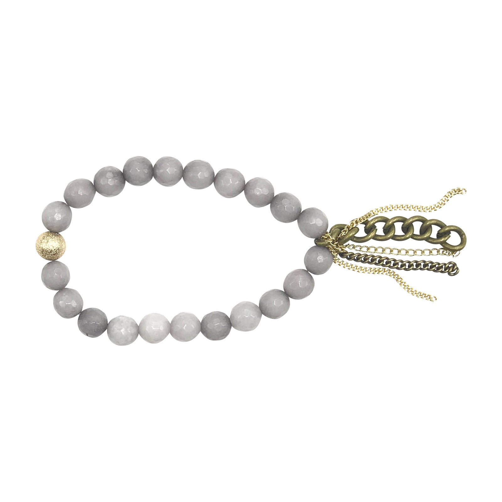Faceted Grey Jade