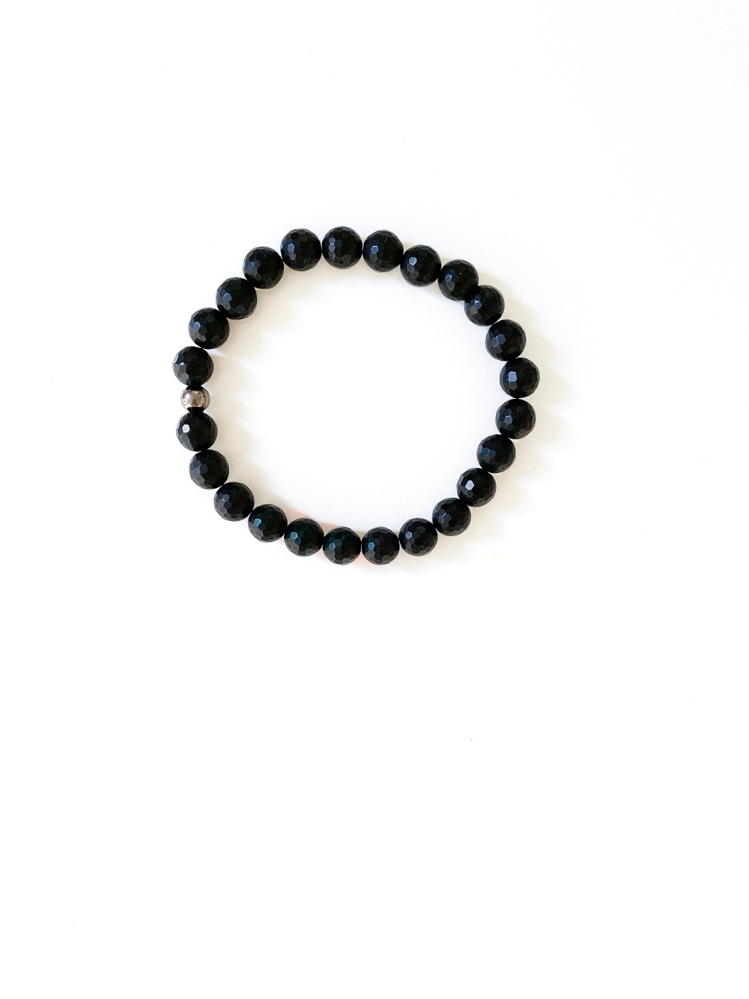 Men's Faceted Black Onyx