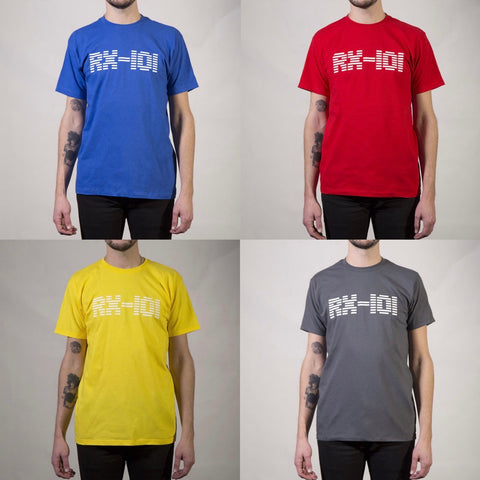 RX-101 logo (blue/red/yellow/grey T-Shirt)