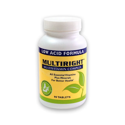 MULTIRIGHT Low Acid Multivitamin Complex - 90-day Supply (1 bottle)