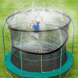 Trampoline Sprinkler, Outdoor Trampoline Water Play Sprinklers for Kids, Fun Water Park Summer Toys Trampoline Accessories