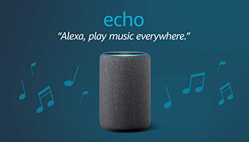 Echo (3rd Gen)- Smart speaker with Alexa- Charcoal - BEAN Ultra