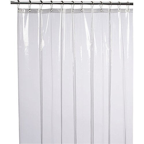 Mildew Resistant Antimicrobial Shower Curtain Liner, 72x72 Clear is Non Toxic, Eco Friendly - BEAN Ultra
